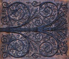 iron detail from a portal at Notre Dame in Paris Wooden Screen Door, Metal Screen, Arabesque, Wrought Iron Wall Art, Portal, Art Nouveau, Medieval Door, Screened In Deck, Art Pierre