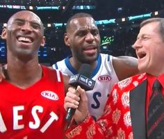 Bryant was being interviewed by Craig Sager when James interjected, deeply offended that the old man had tried to throw one down on him.