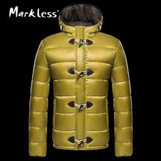 Men's Down Jackets Clothing Mens Casual White Duck Down Hooded Coats Male Fashion Outerwear Down Coats