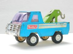 Vintage Diecast Toy BUDDY L Toys Tow Truck Blue Pressed Metal Vehicles Old Toys