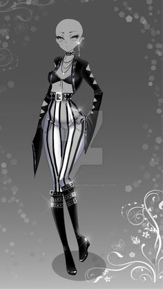 (closed) Auction Adopt - Outfit 396 by CherrysDesigns Villain Costumes, Hero Costumes, Anime Outfits, Cool Outfits, Fashion Outfits, Fashion Design Drawings, Fashion Sketches, Looks Party, Warrior Outfit