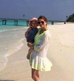 Little Princess Leonore with her mother Princess Madeleine of Sweden vacationing in Maldives on 20 Jan. 2015