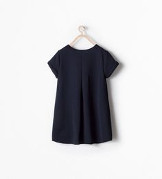 ZARA - KIDS - DRESS WITH BUCKLE AND FAUX LEATHER PIPING