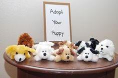 "puppy party - Do you practice animal-assisted therapy?  How about this as a theme for your open house?  Maybe change this to a basket of ""Adopt a Puppy"" parting gifts?"