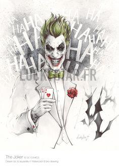 The Joker by Stephanie Lavaud - Batman Art - Fashionable and trending Batman Art - DC Comic Book Artwork The Joker by Stephanie Lavaud Joker Comic, Le Joker Batman, Batman Art, Joker And Harley Quinn, Gotham Joker, Batman Stuff, Spiderman, Photos Joker, Joker Images