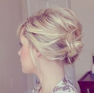 updo for short hair -add some sparkle twists