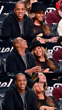 Beyoncé & Jay Z at The Nets game in Brooklyn Jan 12th, 2015