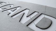 A very sweet handmade typography experiment!