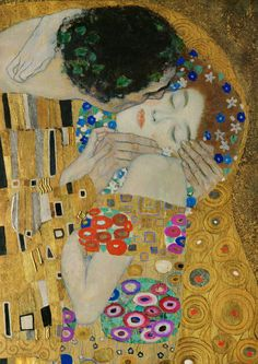 Gustav Klimt - The Kiss (Detail, 1907)