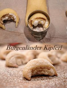 Burgenländer Kipferl – Gudrun von Mödling – Pratik Hızlı ve Kolay Yemek Tarifleri Cake Mix Cookie Recipes, Cupcake Recipes, Snack Recipes, Dessert Recipes, Healthy Recipes, Chocolate Cake Mix Cookies, Cake Cookies, Cupcakes, Food Cakes