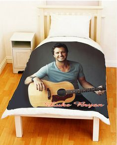 Luke Bryan Country Pop Photo Plush Fleece Throw Blanket Bedspread ...
