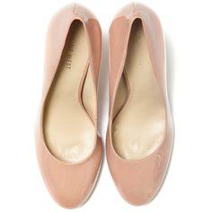 Nine West Caress Pump ❤ liked on Polyvore featuring shoes, pumps, heels, flats, sapatos, women, nine west flats, flat pumps, slip on heels shoes and heel pump