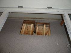 Hole in floor for the hot air, and the water from the AC Camper Air Conditioner, Serro Scotty, Entryway Tables, Restoration, Flooring, Hot, Water, Furniture, Design