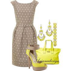 """Eliza J Belted Dress"" by arjanadesign on Polyvore"