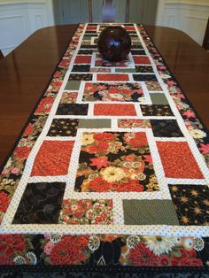 Japanese Quilted Table Runner by jkonopacz on Etsy