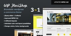 This theme utilises Wordpress Ecommerce plugin to create a versatile and feature packed Wordpress powered shop, with 3 different layout options and unlimited color possibilities. Make this theme your own. Mix up content on the homepage with swappable content areas, and change between 2 different footer areas, or use both! A theme so versatile that you can re-brand it to suit your business by simply changing a few settings. #wordpress #template #ecommerce #theme