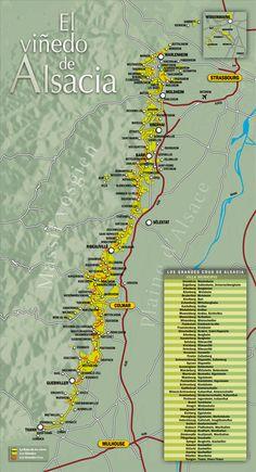 La ruta de los vinos, El turismo - Vins d'Alsace, CIVA, grands crus, crémant, vendanges tardives, sélections grains nobles, riesling, gewurztraminer, pinot gris, pinot blanc, sylvaner, klevener