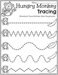 Looking for fun Preschool Zoo Theme Activities for kids? Check out these 16 Hands-On Preschool Zoo inspired Learning Activities and Crafts for Preschool or Kindergarten. Line Tracing Worksheets, Printable Preschool Worksheets, Kindergarten Worksheets, Tracing Lines, Homeschool Worksheets, Money Worksheets, Budgeting Worksheets, Alphabet Worksheets, Preschool Printables Free Worksheets