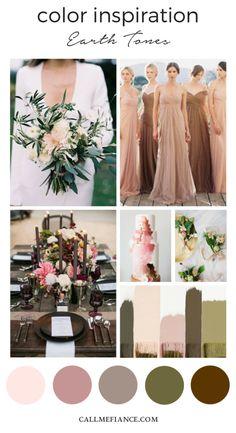 We love earth tones! | Wedding Color Schemes | Pinterest | Wedding ...