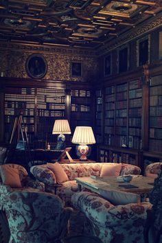 A gloomy library... just the place to read Twilight perhaps.