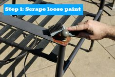 metal furniture Painting Metal Patio Chairs: 5 Easy Steps to an Awesome Makeover Painting Patio Furniture, Small Patio Furniture, Patio Furniture Makeover, Fire Pit Furniture, Lawn Furniture, Chair Makeover, Furniture Ideas, Furniture Chairs, Apartment Furniture