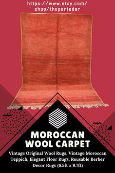 Moroccan Wool Carpet, Vintage Original Wool Rugs! Colorful moroccan rugs, moroccan rug living room, vintage moroccan rugs, moroccan rug bedroom, pink moroccan rug, black and white moroccan rug, white moroccan rug, red moroccan rug, grey moroccan rug, moroccan rug decor, round moroccan rug, moroccan rug wall hanging, boho moroccan rug, moroccan rug office, plush moroccan rug, small moroccan rug, outdoor moroccan rug. #vintagemoroccanrugs #moroccanrugbedroom #whitemoroccanrug… Wool Rugs, Wool Area Rugs, Living Room Decor Inspiration, Moroccan Berber Rug, Modern Moroccan, Rug Shapes, Wool Carpet, Rugs In Living Room, Etsy Vintage