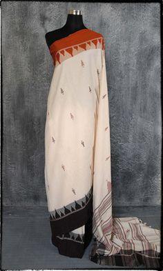 v29b Kotpad Hand Woven Pure Cotton Sari – father-land