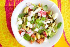 Hämmentäjä, loistava lounassalaatti. Bright and shining lunch salad