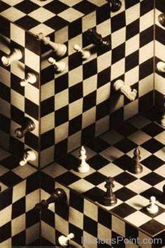 Optical Illusion - Multi-dimensional chess