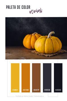 Paleta de color de inspiración otoñal para tus diseños, para tu branding o marca. Gama de colores para tu feed de Instagram. Autumn color scheme #amarillo #otoño #colorotoño #design #colors #colortheme #colorscheme #colorpalette #colorinspiration #autumncolor #yellow #marron