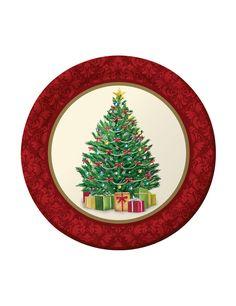 8 Platos pequeños árbol de Navidad 18 cm