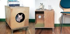 Cats Toys Ideas - The company creates handcrafted, modern pieces with apartment dwellers in mind. For example, their Mod Mover Cat Station combines a cat bed, scratching post, and end table for humans into one stylish piece of furniture. - Ideal toys for small cats