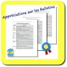 Les appréciations sur les bulletins - Capuchon à l'école