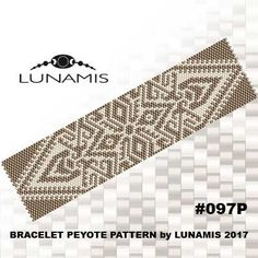 Peyote bracelet pattern, even count, peyote pattern, stitch pattern, pdf file, pdf pattern, #097P