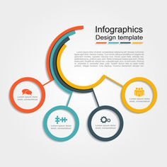 Infographic design template with place for your data. royalty-free infographic design template vector illustration stock vector art & more images of abstract Circle Infographic, Timeline Infographic, Beer Infographic, Process Infographic, Creative Infographic, Fashion Infographic, Templates Powerpoint, Free Infographic Templates, Flow Chart Design