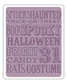 SIZZIX HALLOWEEN PRINT  Embossing Folder - New (out of the box but never used)