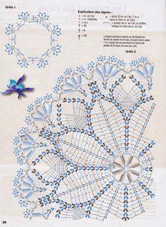 Kira scheme crochet: Scheme crochet no. Filet Crochet, Crochet Doily Diagram, Crochet Doily Patterns, Crochet Chart, Thread Crochet, Crochet Motif, Crochet Stitches, Crochet Home, Love Crochet