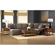 klaussner belleview reclining sectional with leftside chaise godby home furnishings reclining sectional