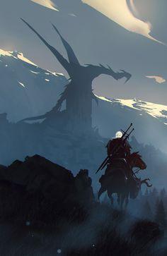 The Edge of the World : witcher – The Witcher Series The Witcher Wild Hunt, The Witcher Game, The Witcher Geralt, Witcher Art, Ciri, Fantasy World, Dark Fantasy, Fantasy Art, The Witcher Wallpapers