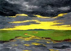 1916 TWILIGHT Emile Nolde (German~Danish 1867~1956) …