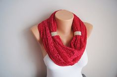 Hey, I found this really awesome Etsy listing at https://www.etsy.com/listing/161646214/coral-red-cotton-lace-circle-loop-scarf