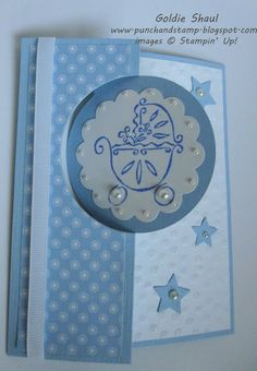 Punch and Stamp with Goldie: PPA 188 circle thinlits baby card