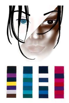 Farbtyp dunkel-kalt: die perfekten Farben