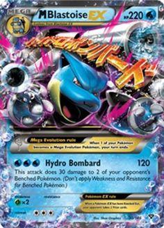 Pokemon M Blastoise Ex 30/146 Xy Card (bestseller)