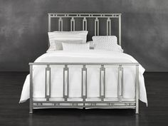 The Phoenix iron bed has pleasing proportions that portray intelligence and embodies minimalist allure and delicate style.