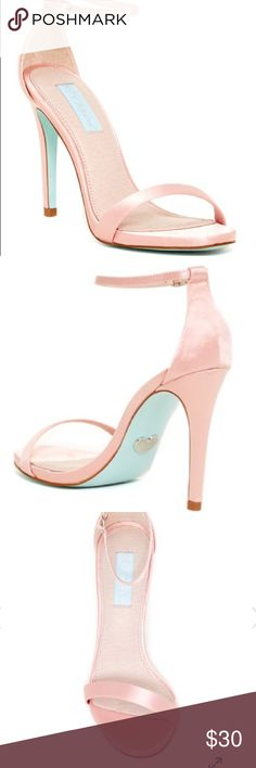 Betsey Johnson pink heels  New and unworn! Without box, perfect for a wedding or prom! Betsey Johnson Shoes Heels