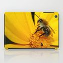 i pad cases Bee on yellow flower by Christine Baessler