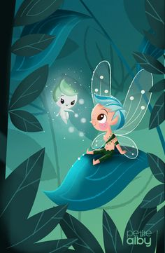 Fairykid on Behance Art Drawings For Kids, Cute Drawings, Images Disney, Fairy Art, Illustrations And Posters, Whimsical Art, Cute Illustration, Cartoon Wallpaper, Belle Photo