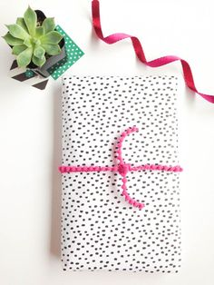 Gift Wrap It Wednesday--wrapping tips and tricks: Speckled Dots by Gold Standard Workshop