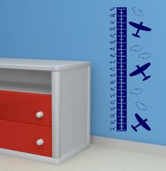 Airplane growth chart  vinyl lettering by twiceasnicelettering, $30.00